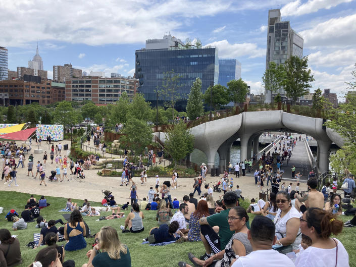 Little Island opens to the public this weekend in New York City. Photo by STRF/STAR MAX/IPx