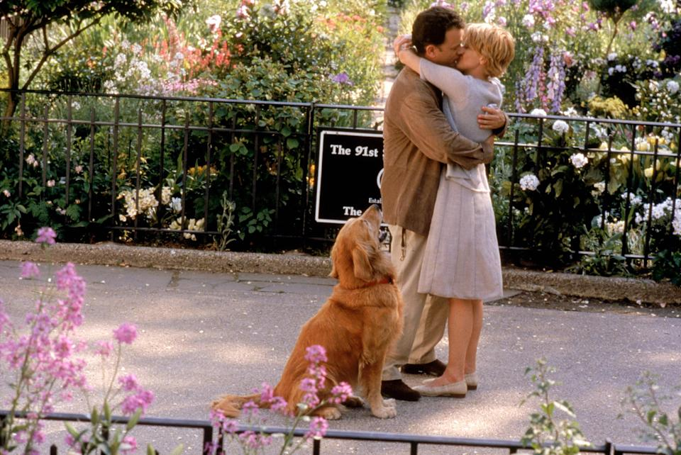 """<p>My mom and I are big rom-com people, and <em>You've Got Mail</em> is one of her favorites. She was happy to share this romance about a small bookstore owner (Meg Ryan) and her email penpal (Tom Hanks) with me, and it always reminds me of her. –<em>Paulina Jayne Isaac, contributor</em></p> <p><a href=""""https://cna.st/affiliate-link/Lkx5GxxgPJzHyfmdtnhzRDNAsvB3QteJFsxs8rC8SuVSprMpX8He1wHrurzNU4a4G9urmM1u12Cwo4zp3K1vxN2YkBT2uqvqS6UeQrwWwkRhvJL8PYRNsC6BjR8nsSJr6fDWpGe9cwQNJMBG5r?cid=6092b956a3c02847c485d256"""" rel=""""nofollow noopener"""" target=""""_blank"""" data-ylk=""""slk:Stream it on Hulu"""" class=""""link rapid-noclick-resp""""><em>Stream it on Hulu</em></a></p>"""