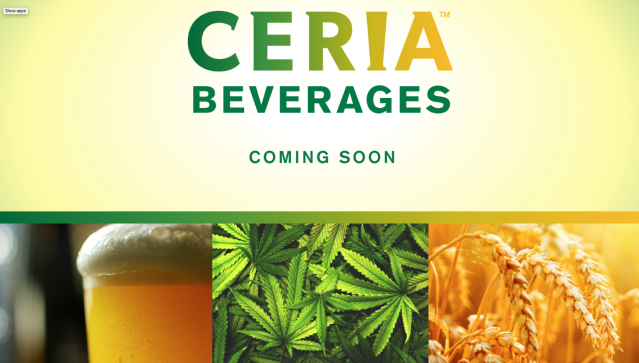 "Ceria Beverages and its THC-infused ""beer"" is coming soon. (Photo: ceriabeverages.com)"