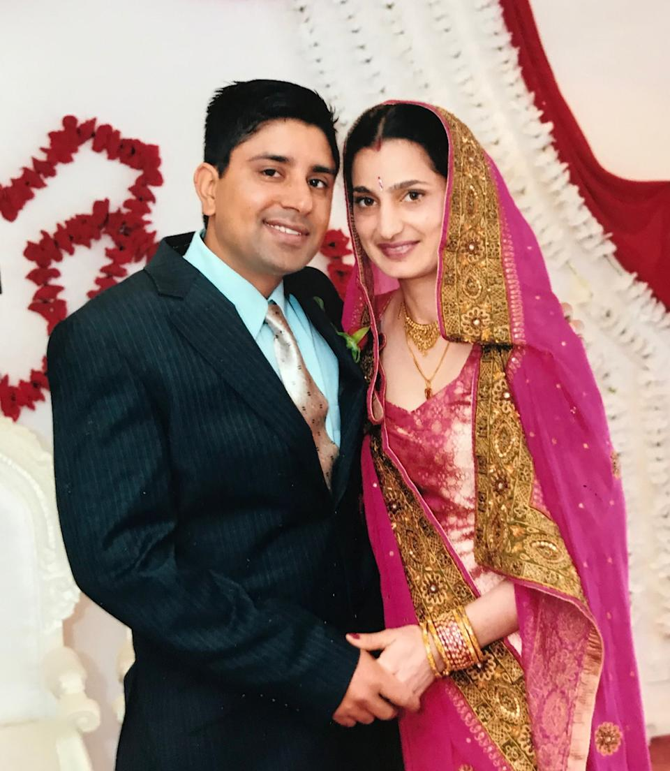 Kulwinder Singh and his wife Parwinder Kaur seen at a 2013 wedding. Source: AAP/Supplied by NSW Supreme Court