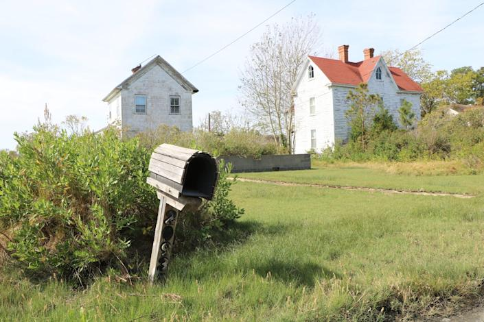 The remnants of a home sits on an abandoned property on Smith Island on Oct. 9, 2020. Smith Island has been in a gradual decline for the last 40 years. A visual example of that are the various properties that have been abandoned as more residents have left.