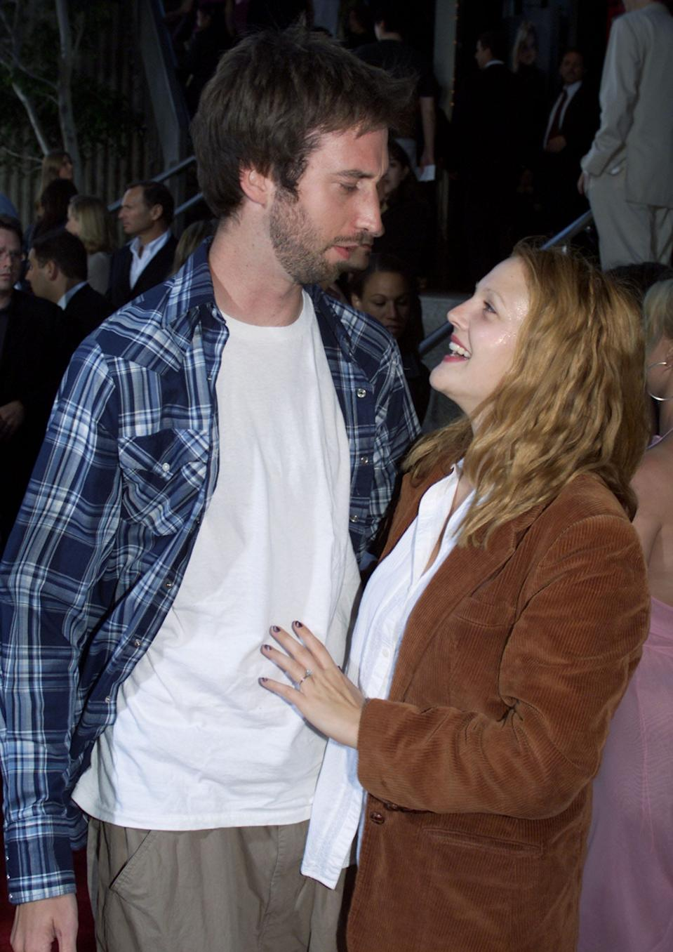 """Tom Green and Drew Barrymore, pictured here in 2000, reunited on """"The Drew Barrymore Show."""" The couple was briefly married."""