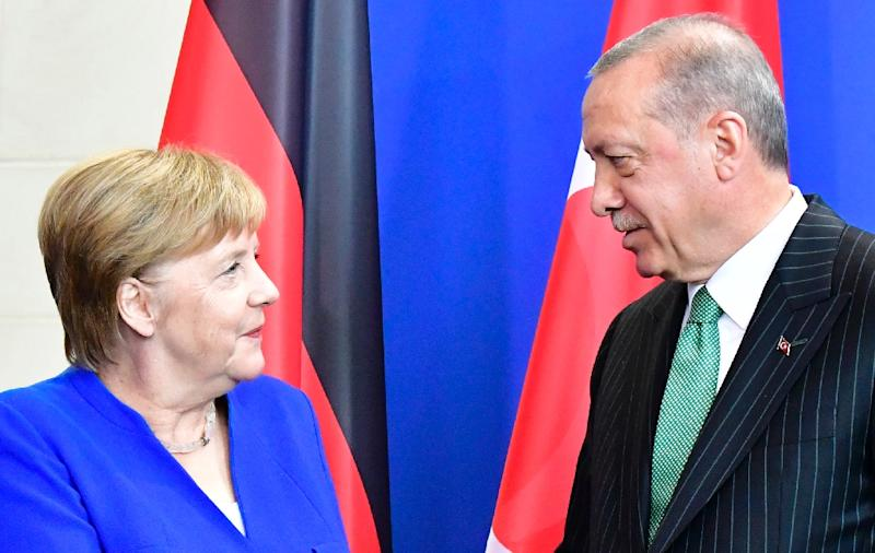 Angela Merkel clashes with President Erdogan in dispute over press freedom