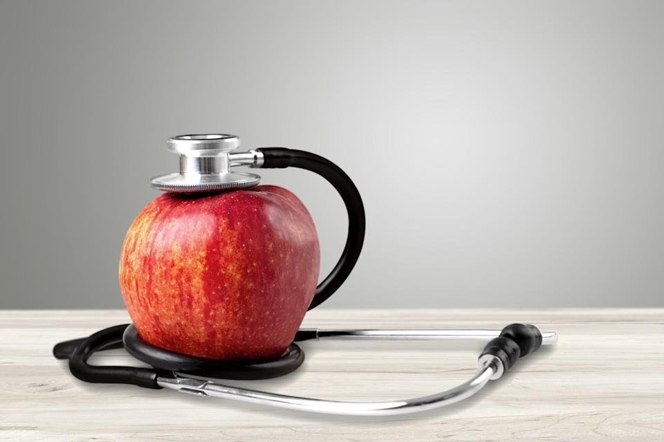 """""""Sugars from fruits aren't bad for us,"""" pediatrician Allan Kornberg said. """"Eat a whole apple and you'll experience positive metabolic effects. Just avoid apple juice, which will contribute to a spike in insulin."""" (artisteer via Getty Images)"""