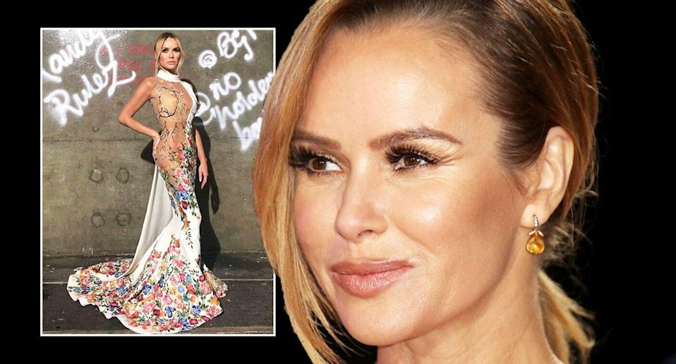 Amanda Holden wore a revealing gown for last night's episode of 'Britain's Got Talent'. [Photo: Getty]
