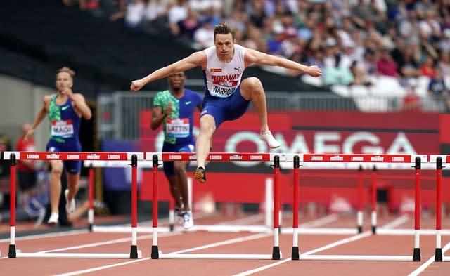 Warholm has run the second fastest 400m hurdles of all time. (John Walton/PA)