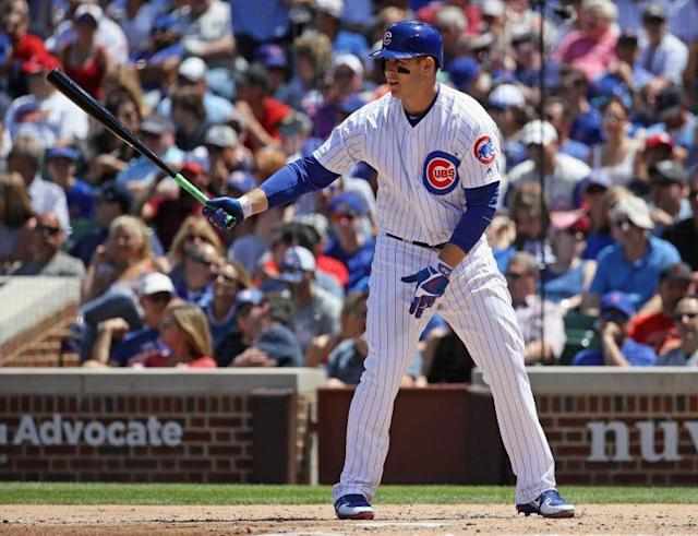Anthony Rizzo is leading off for the Cubs on Tuesday night. (Getty Images)
