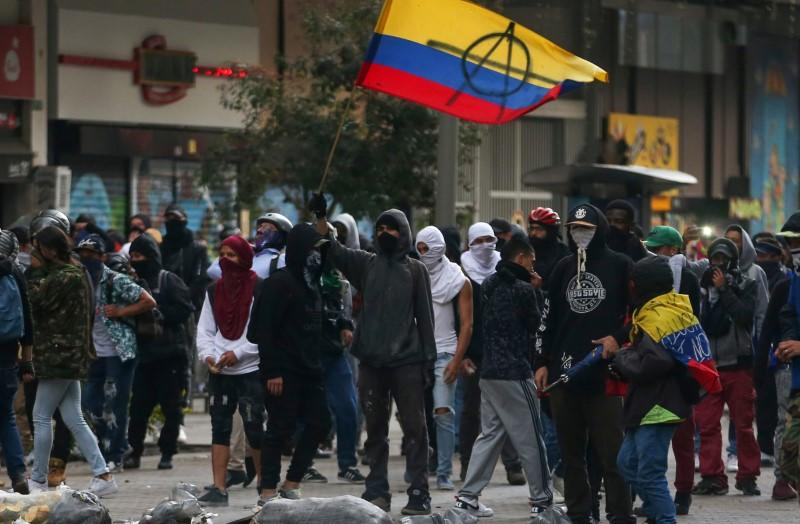 Protest against the government of Colombia's President Ivan Duque, in Bogota