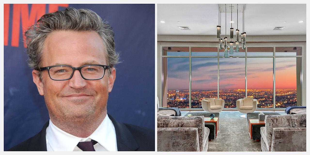 """<p><strong>You might associate Matthew Perry with the hit sitcom Friends (yes, Chandler Bing), but the actor has also made his mark in the real estate world. Matthew's latest move? He's selling his stunning penthouse at The Century in Los Angeles for $35 million (£29 million).  </strong></p><p>Matthew acquired a number of gorgeous homes throughout California over the past decade, and now he's parting ways with a unique penthouse that he purchased in 2017 for $20 million. At more than 9,000 square feet, the breathtaking space occupies the 40th floor of the luxurious Century high-rise, designed by the award-winning firm Robert A.M. Stern Architects. For the renovation, Matthew enlisted the help of architect <a href=""""https://scottjoycedesign.com/"""" target=""""_blank"""">Scott Joyce </a>and lauded interior designer <a href=""""https://lmpagano.com/"""" target=""""_blank"""">LM Pagano</a> to create a residence that they believe is a true 'mansion in the sky'.</p><p>The penthouse is a lesson in modern living with four bedrooms, eight bathrooms, a spacious living room, and a screening room. And as if that's not enough, it also includes four terraces and access to The Century's impressive list of amenities (think an oversized pool, a gym, private wine storage, and a movie theatre). According to <a href=""""https://pagesix.com/2019/08/05/matthew-perrys-35m-penthouse-is-los-angeles-most-expensive-condo-for-sale/"""" target=""""_blank"""">Page Six</a>, Matthew's property is currently the most expensive apartment on the market in Los Angeles at the moment. </p><p>While Matthew last appeared as Ted Kennedy in The Kennedys: After Camelot, a two-part mini series that aired in 2017, the actor will certainly be busy overseeing the sale of his pricey property. <br><br>Keep scrolling for a look inside the penthouse, which is listed with <a href=""""https://www.compass.com/listing/1-west-century-drive-los-angeles-ca-90067/309959562073109649/?origin_type=Listing%20Card&origin=Consumer%20Search"""" target=""""_blank"""">via Compa"""