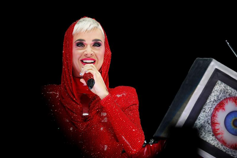 SYDNEY, AUSTRALIA - AUGUST 13: Katy Perry performs at Qudos Bank Arena on August 13, 2018 in Sydney, Australia. (Photo by Hanna Lassen/WireImage)