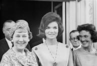 """<p>Mamie Eisenhower did not want to leave the White House and viewed Jackie Kennedy as a young, and inexperienced, <a href=""""https://www.washingtonpost.com/lifestyle/style/when-first-ladies-meet-an-awkward-post-election-white-house-tradition/2016/04/06/5d8a60be-f6b6-11e5-9804-537defcc3cf6_story.html?utm_term=.ffef1d68dca8"""" rel=""""nofollow noopener"""" target=""""_blank"""" data-ylk=""""slk:&quot;college girl&quot;"""" class=""""link rapid-noclick-resp"""">""""college girl""""</a> who she couldn't envision filling her position of First Lady. </p>"""