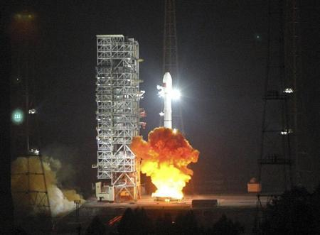 Long March 3C, carrying the 6th Beidou navigational satellite, lifts off from the launch pad at the Xichang Satellite Launch Center