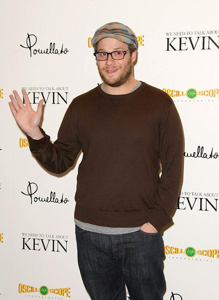"""He may have recently settled down and gotten married, but self-proclaimed party boy Seth Rogen still landed the honor of the celebrity most respondents would want to party with on New Year's Eve. The """"Knocked Up"""" star landed 20% of the vote, while pop queens Katy Perry and Lady Gaga tied for second with 19% each. Single ladies Kim Kardashian (13%), Paris Hilton (9%), Lindsay Lohan (7%), and Rihanna (6%), also made the list, which was rounded out by Pitbull (5%) and Mike """"The Situation"""" Sorrentino (2%)."""