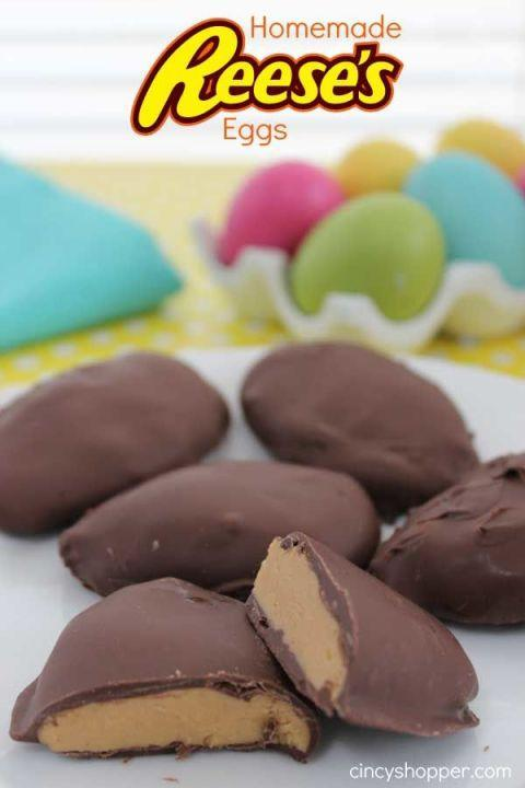 """<p>Blogger Jen says it best: """"This recipe is going to knock your socks off!"""" Since Easter isn't complete without Reese's Eggs, she decided to make her own after the ones she bought kept disappearing. The result was a treat that's so spot-on, that her kids couldn't tell the difference. </p><p><strong>Get the recipe at <a href=""""http://cincyshopper.com/homemade-reeses-eggs/"""" rel=""""nofollow noopener"""" target=""""_blank"""" data-ylk=""""slk:Cincy Shopper"""" class=""""link rapid-noclick-resp"""">Cincy Shopper</a>. </strong></p>"""