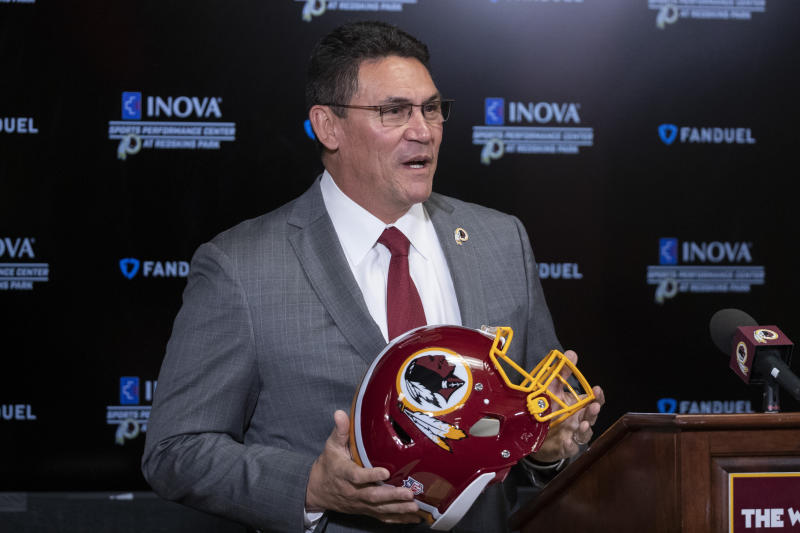 New Redskins coach Ron Rivera is inheriting a mess in Washington. (AP Photo/Alex Brandon, File)