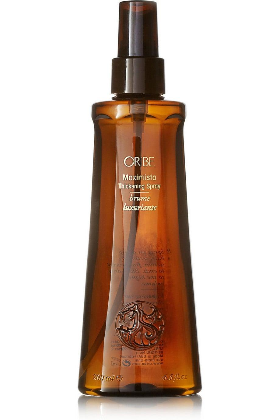 <p>If you suffer from thin or flat hair, try using this <span>Oribe Maximista Thickening Spray</span> ($38). It expands your strands to give you irresistible fullness.</p>