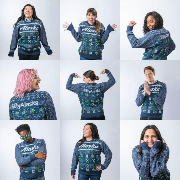 PHOTO: For the third year, guests dressed in fly holiday gear get priority boarding Dec. 20 on all Alaska Airlines flights. (Alaska Airlines)
