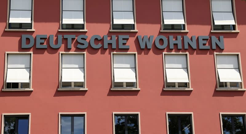 FILE PHOTO: An office building of the German property group Deutsche Wohnen is pictured in Berlin