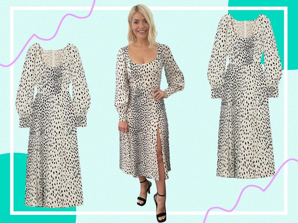 <p>While more expensive than her usual high street outfits, this dress will stand the test of time</p> (@hollywilloughby/The Independent)