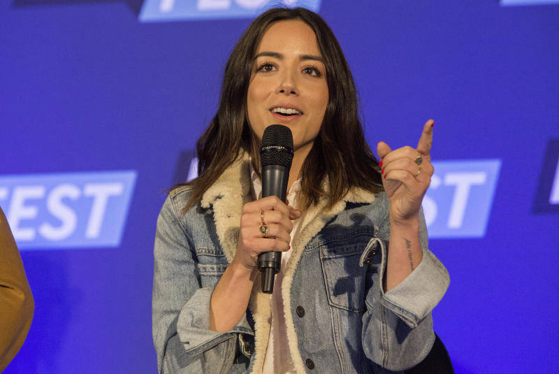 Actress Chloe Bennet during the Walker Stalker Con Chicago at the Donald E. Stephens Convention Center on March 26, 2017. (Barry Brecheisen via Getty Images)