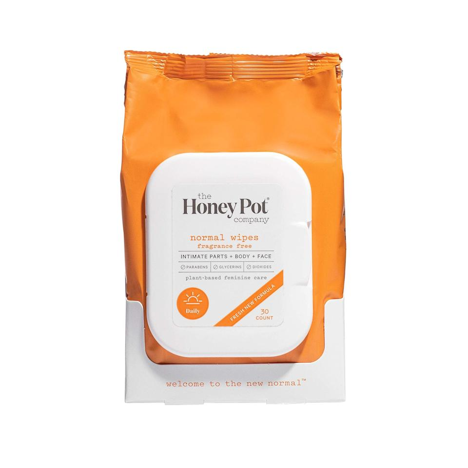 """<h2>36% Off Honey Pot Natural Feminine Wipes</h2><br>Whew, we're thrilled to see another winner of our MVP Awards 2020 in the mix for discounts on Prime Day! <a href=""""https://thehoneypot.co/"""" rel=""""nofollow noopener"""" target=""""_blank"""" data-ylk=""""slk:The Honey Pot Company"""" class=""""link rapid-noclick-resp"""">The Honey Pot Company</a> has made something as simple as intimate wipes into a radical act of self-love. The formula is 99% natural and made with herbal ingredients that sanitize and hydrate your skin. It's what's not in these babies that makes them an MVP, and what also makes them a fab cleanser for your face, body, all your nether regions, and also sex toys according to our staff Honey Pot wipes reviewer (hmmm). It all comes back to the ethos of Honey Pot Company, a Black female-owned business whose products serve as a springboard into conversations on vaginal health. <br><br><em>Shop</em> <strong><em><a href=""""https://amzn.to/3cYcRip"""" rel=""""nofollow noopener"""" target=""""_blank"""" data-ylk=""""slk:Honey Pot"""" class=""""link rapid-noclick-resp"""">Honey Pot</a></em></strong><br><br><strong>The Honey Pot Company</strong> Feminine Wipes - Normal, 30 Count, $, available at <a href=""""https://amzn.to/3cYcRip"""" rel=""""nofollow noopener"""" target=""""_blank"""" data-ylk=""""slk:Amazon"""" class=""""link rapid-noclick-resp"""">Amazon</a>"""