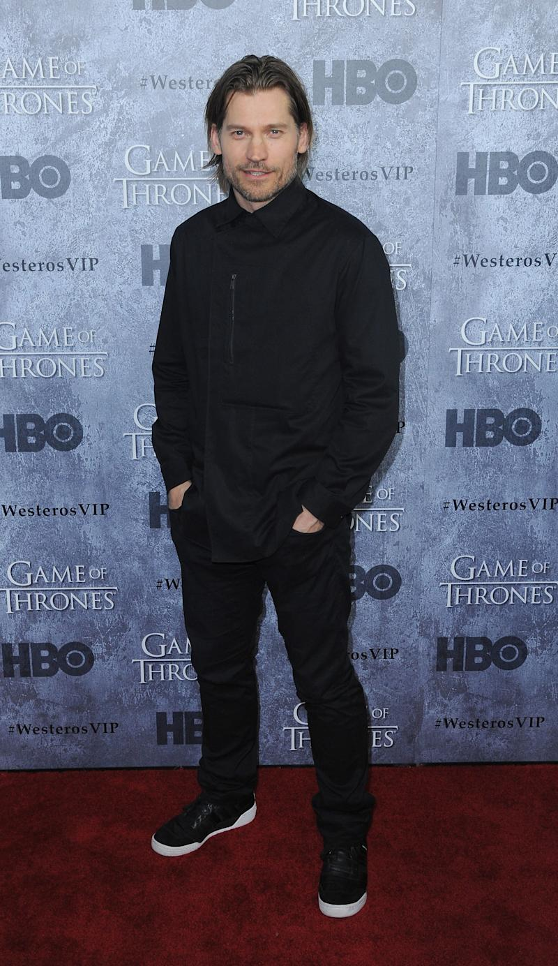 Nikolaj Coster-Waldau, who plays Jaime Lannister, at the premiere of Game of Thrones season three in San Francisco, California, March 2013.