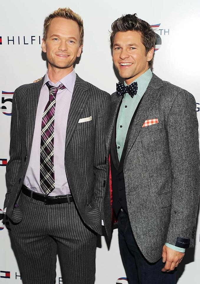 "Neil Patrick Harris and partner David Burtka became the proud daddies of twins on October 12. ""Babies!! On 10/12, Gideon Scott and Harper Grace entered the Burtka-Harris fold. All of us are happy, healthy, tired, and a little pukey,"" tweeted Harris after his son and daughter arrived via surrogate. Dimitrios Kambouris/<a href=""http://www.wireimage.com"" target=""new"">WireImage.com</a> - September 12, 2010"