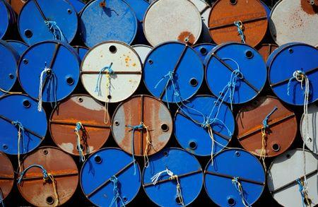 FILE PHOTO: Oil barrels are pictured at the site of Canadian group Vermilion Energy in Parentis-en-Born
