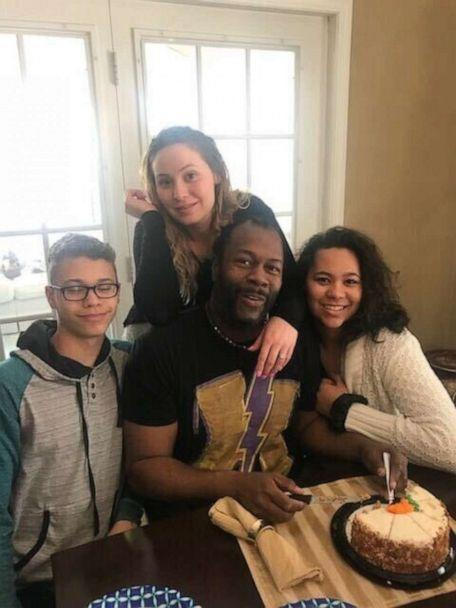 PHOTO: Calvin Mathews a state health inspector from Minneapolis, Minnesota, is seen in an undated family photo with his children, Jessica, 29, Christian, 18 and Sydney Grace. (Calvin Mathews)