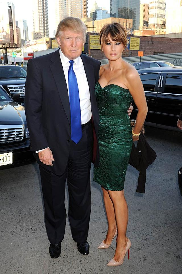 """Presidential wannabe Donald Trump and his hot young wife, Melania, took part, too. Luckily for Donald, Seth Meyers wasn't there to crack more jokes ... Demis Maryannakis/<a href=""""http://www.splashnewsonline.com"""" target=""""new"""">Splash News</a> - May 9, 2011"""