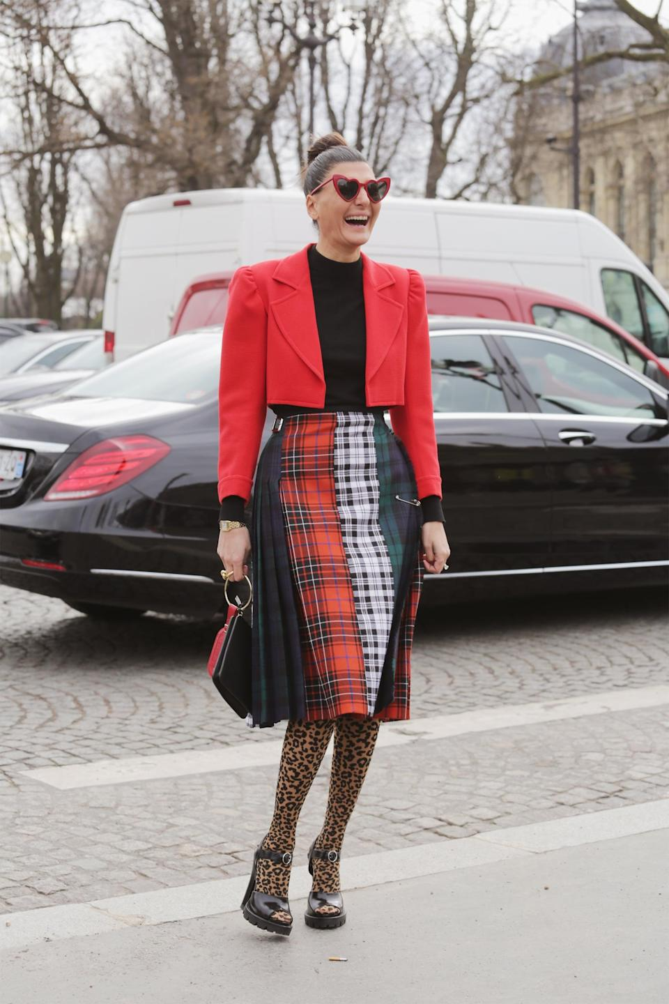 <p>While plaid is always somewhere in the Fall array of trends, it's bolder than ever, come this season. The single statement piece has gotten more colorful, more voluminous, and more head-turning, while many are even styling a mixing-and-matching selection from head-to-toe. Dior showed off brightly-toned woven midi skirts, Vera Wang went for full-suiting looks, and Burberry jumped into the outerwear game, designing everything from trench coats to puffers.</p>