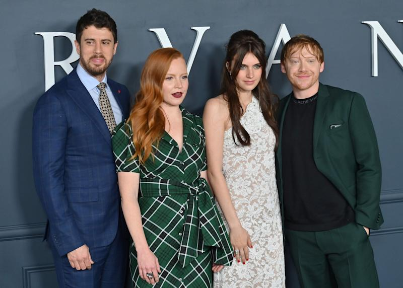Actors Toby Kebbell, Lauren Ambrose, Nell Tiger Free and Rupert Grint (AFP via Getty Images)