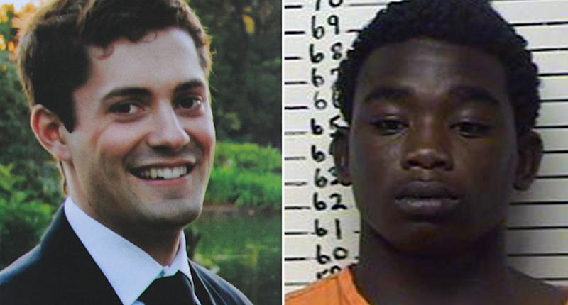 Melbourne baseballer Chris Lane and (right) John Edwards who was involved in the 2013 Oklahoma shooting. Source: AAP