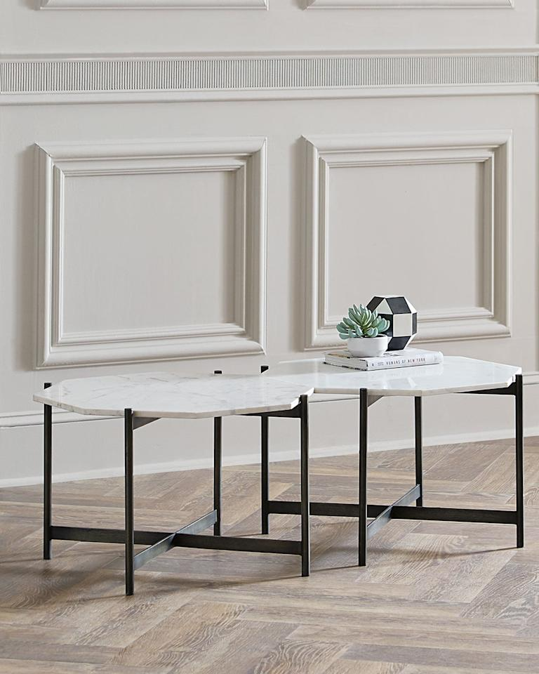 """<p>We love that you can attach these <a href=""""https://www.popsugar.com/buy/Madelyn-Bunching-Coffee-Tables-476228?p_name=Madelyn%20Bunching%20Coffee%20Tables&retailer=horchow.com&pid=476228&price=399&evar1=casa%3Aus&evar9=46462040&evar98=https%3A%2F%2Fwww.popsugar.com%2Fphoto-gallery%2F46462040%2Fimage%2F46462134%2FMadelyn-Bunching-Coffee-Table&list1=home%2Cfurniture%2Chome%20shopping&prop13=api&pdata=1"""" rel=""""nofollow"""" data-shoppable-link=""""1"""" target=""""_blank"""" class=""""ga-track"""" data-ga-category=""""Related"""" data-ga-label=""""https://www.horchow.com/Madelyn-Bunching-Coffee-Table/cprod128870039_cat2020732__/p.prod?icid=&amp;searchType=EndecaDrivenCat&amp;rte=%252Fcategory.service%253FitemId%253Dcat2020732%2526pageSize%253D29%2526Nao%253D0%2526Ns%253DMAX_PROMO_PRICE%2526refinements%253D&amp;eItemId=cprod128870039&amp;cmCat=product"""" data-ga-action=""""In-Line Links"""">Madelyn Bunching Coffee Tables</a> ($399) together.</p>"""
