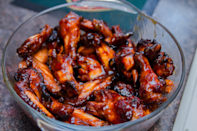 """<p>""""Absolutely delicious. I love the sauce and it's full of ingredients I usually have on hand, which is great!"""" <i>-SilentCricket</i> <b><a href=""""http://www.food.com/recipe/caramelized-chicken-wings-44888?oc=PTNR-YahooFood-favorite-chicken-wing-recipes"""" rel=""""nofollow noopener"""" target=""""_blank"""" data-ylk=""""slk:Get the Recipe>>"""" class=""""link rapid-noclick-resp"""">Get the Recipe>></a></b><br></p><p><i>Recipe by <a href=""""http://share.food.com/community/Theresa-Thunderbird/style.esi?member_id=26399?oc=PTNR-YahooFood-favorite-chicken-wing-recipes"""" rel=""""nofollow noopener"""" target=""""_blank"""" data-ylk=""""slk:Theresa/Thunderbird"""" class=""""link rapid-noclick-resp"""">Theresa/Thunderbird</a>; Photo by<a href=""""http://share.food.com/community/leomf/style.esi?member_id=2595259?oc=PTNR-YahooFood-favorite-chicken-wing-recipes"""" rel=""""nofollow noopener"""" target=""""_blank"""" data-ylk=""""slk:leomf"""" class=""""link rapid-noclick-resp""""> leomf</a> </i></p>"""
