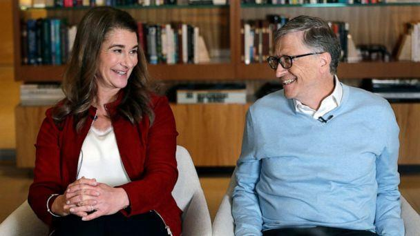 PHOTO: Bill and Melinda Gates smile at each other during an interview in Kirkland, Washington, on Feb. 1, 2019. (Elaine Thompson/AP, File)