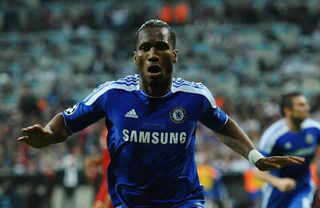 <p>Didier Drogba ended his spell at Chelsea in 2012 by leading them to Champions League glory. Having scored the 87th minute equaliser, Drogba converted the match-winning penalty in the shootout to wrap up a first Champions League for the Blues. </p>