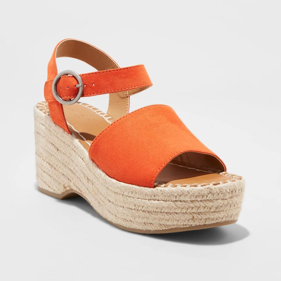 "<p>Add a trendy touch to your Summer staples with these <a rel=""nofollow"" href=""https://www.popsugar.com/buy/Morgan%20Two-Piece%20Espadrille%20Wedges-424166?p_name=Morgan%20Two-Piece%20Espadrille%20Wedges&retailer=target.com&price=33&evar1=fab%3Aus&evar9=45935540&evar98=https%3A%2F%2Fwww.popsugar.com%2Ffashion%2Fphoto-gallery%2F45935540%2Fimage%2F45935884%2FMorgan-Two-Piece-Espadrille-Wedges&list1=sandals%2Ctarget%2Cshoes%2Cspring%2Csummer%2Cspring%20fashion%2Csummer%20fashion&prop13=mobile&pdata=1"" rel=""nofollow"">Morgan Two-Piece Espadrille Wedges</a> ($33).</p>"