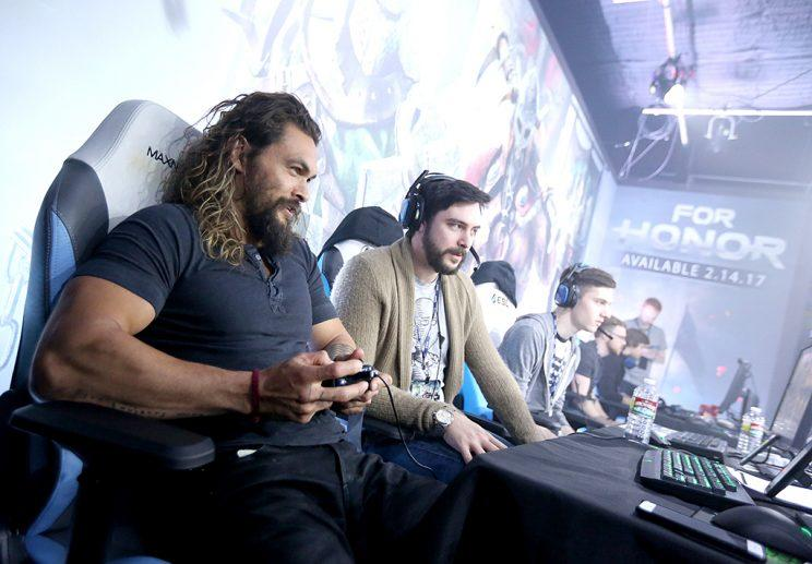 Jason Momoa had a blast competing against others while playing