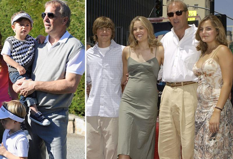 Kevin Costner and family