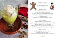 <p>(This recipe is gluten-free and dairy-free; serves 2) </p><p> INGREDIENTS: <br> – 300 ml coconut milk (can use coconut milk or beverage, but latter will be less creamy and intense) <br> -1/2 tsp of Golden Milk spice blend (i.e. Spice Sanctuary Golden Milk spice blend) or turmeric spice <br> -1 tsp Coconut Sugar to sweeten (optional) <br> -1 egg, separated <br> – Nutmeg and True Cinnamon for grating </p><p> HOW TO MAKE: <br> 1. Heat the milk in a pan; when warm, add the spice blend and sugar (if using) and bring to a boil. <br> 2. Take off the heat and chill overnight. <br> 3. When ready to serve, whisk the egg white only. Fold half off the egg white into the chilled eggnog. </p><p> HOW TO ENJOY: <br> Pour the eggnog into serving glasses. Top with a little egg white, and a sprinkling of freshly grated nutmeg and True Cinnamon for that traditional eggnog taste! <br> (Photo: Spice Sanctuary Inc.) </p>