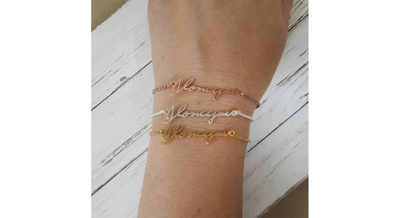 Etsy Bracelet Custom with Actual Handwriting