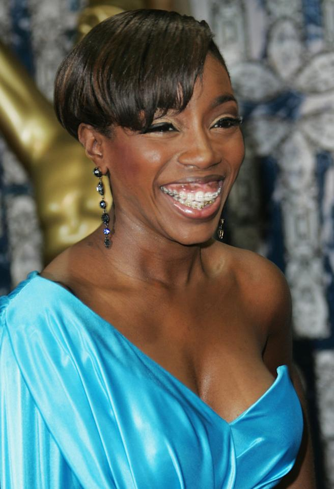MONTE CARLO, MONACO - NOVEMBER 09: Singer Estelle arrives for the World Music Awards 2008 at the Monte Carlo Sporting Club on November 9, 2008 in Monte Carlo, Monaco. (Photo by Tony Barson/WireImage)