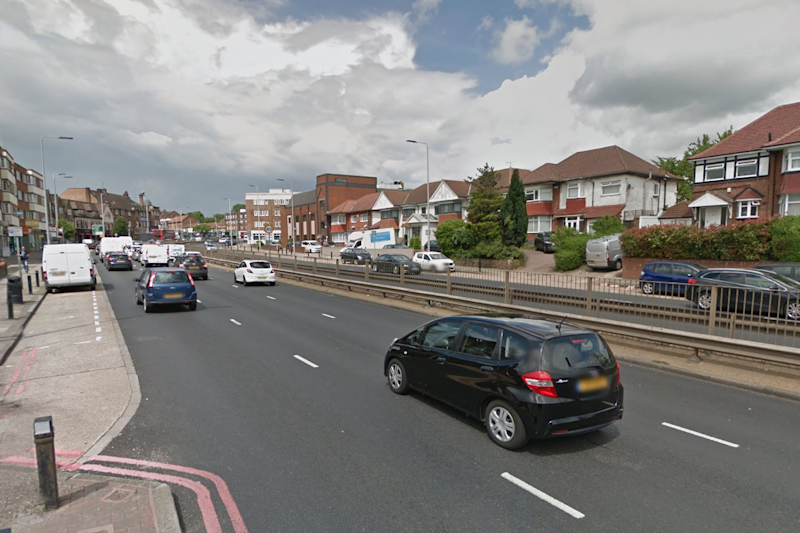 The man was involved in a three-car crash after he was stabbed on nearby road: Google