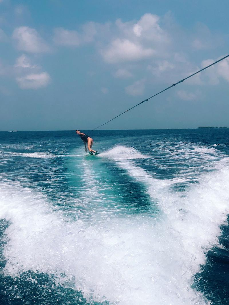 Wakeboarding in a dream world.