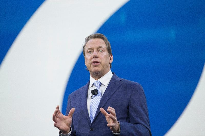 Bill Ford, Executive Chairman and Chairman of the Board for Ford Motor Company speaks during the company's press conference at the North American International Auto Show in Detroit, Michigan, January 9, 2017 (AFP Photo/Geoff Robins)
