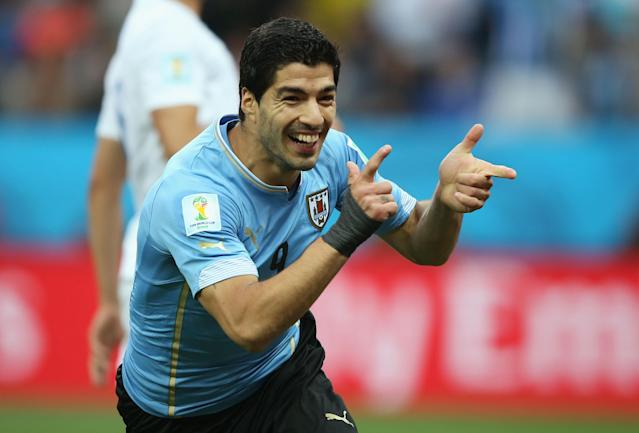 Luiz Suarez was at the center of controversy at both the 2010 and 2014 World Cups. (Photo by Richard Heathcote/Getty Images)