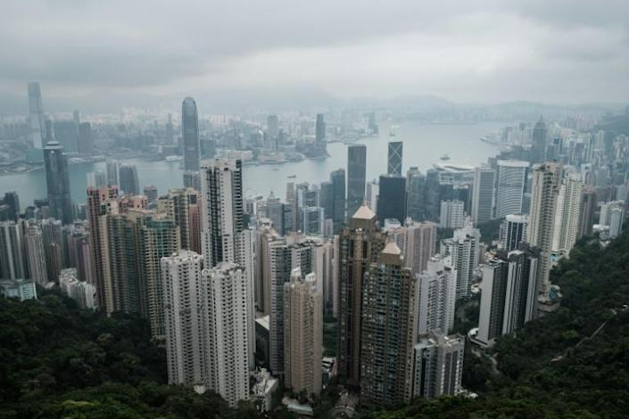 By the end of 2019, mainland Chinese companies made up 73 percent of the market capitalisation in Hong Kong, according to the Hong Kong Trade Development Council (AFP Photo/Anthony WALLACE)