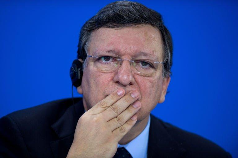 European Commission President Jose Manuel Barroso is pictured July 3, 2013 at the Chancellery in Berlin