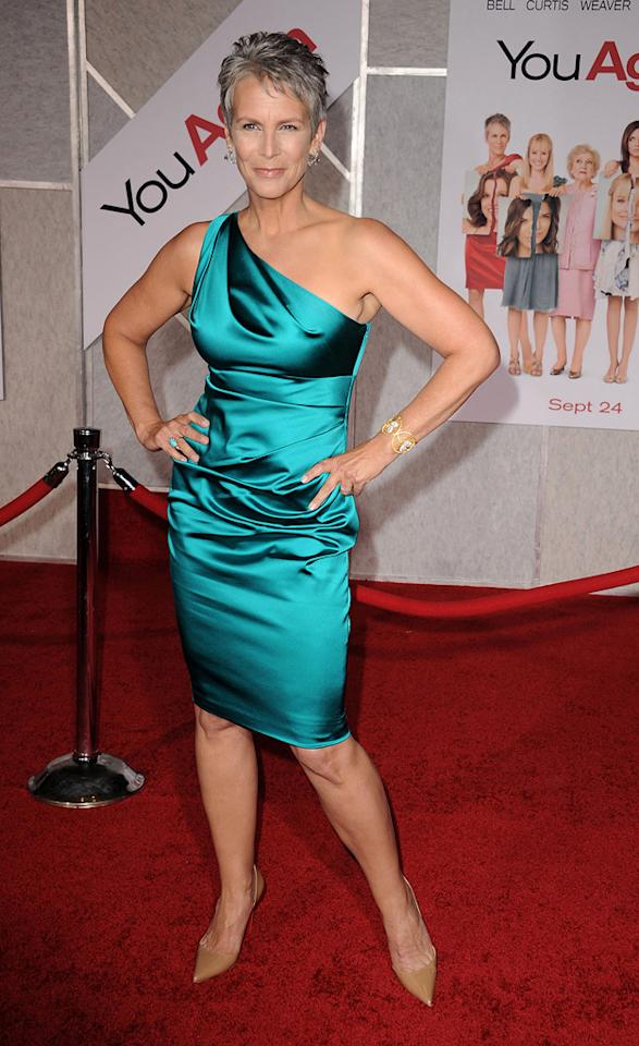 "<a href=""http://movies.yahoo.com/movie/contributor/1800016528"">Jamie Lee Curtis</a> attends the Los Angeles premiere of <a href=""http://movies.yahoo.com/movie/1810111331/info"">You Again</a> on September 22, 2010."